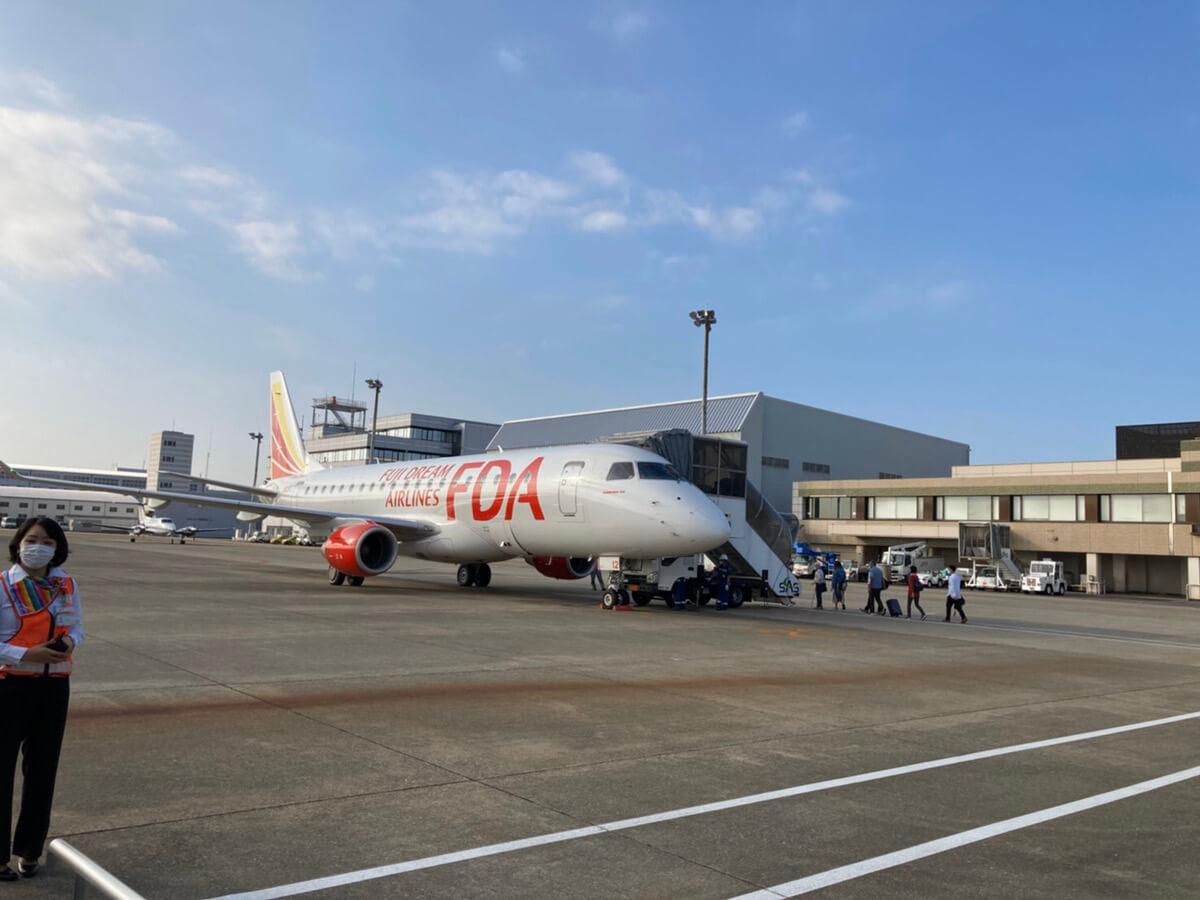 小牧空港~出雲空港までの飛行機(FDA)
